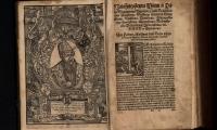 """Wizerunek Zygmunta Augusta w w: """"Statuta y przywileie koronne…"""", po 1570"""