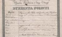 Paszport wystawiony przez wladze miasta Krakowa dla Rajmunda Skorzewskiego