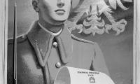 """Plakat  """"Polska Rzeczpospolita Ludowa wspólnym dziełem naszych serc, umysłów i rąk"""""""