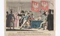 """Ilustracja """"Patriotyczne datki Polaków dla ratowania Ojczyzny"""" 1831"""